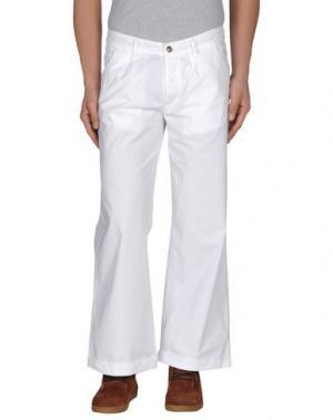 Повседневные брюки JAGGY. Цвет: белый