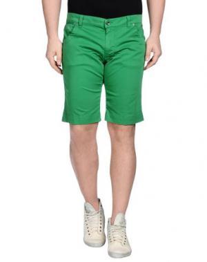 Бермуды KEVIN UP. Цвет: зеленый