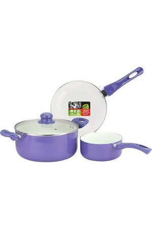 Набор посуды Calve. Цвет: фиолетовый