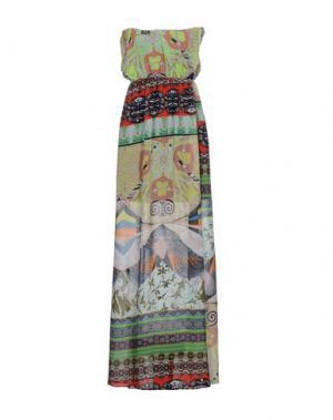 Длинное платье F**K PROJECT. Цвет: светло-зеленый