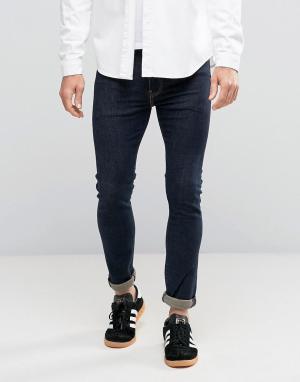 Levis Зауженные джинсы цвета индиго с контрастными строчками 519. Цвет: темно-синий