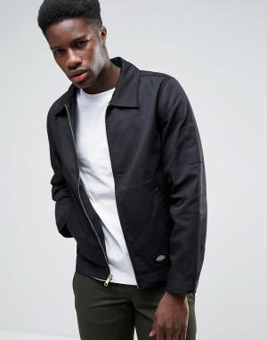 Dickies Спортивная куртка на молнии. Цвет: черный