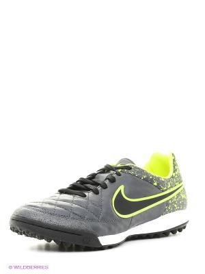 Шиповки TIEMPO LEGACY TF Nike. Цвет: черный