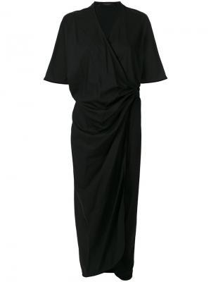 Платье-кимоно с запахом Federica Tosi. Цвет: чёрный