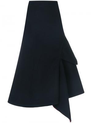 Асимметричная юбка Victoria Beckham. Цвет: синий