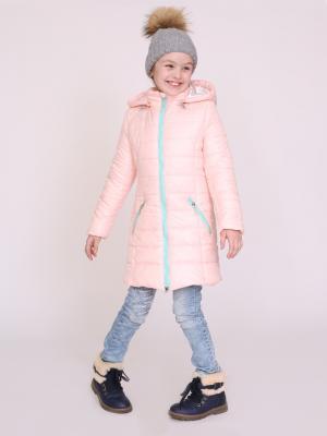 Пальто nasha. Цвет: персиковый