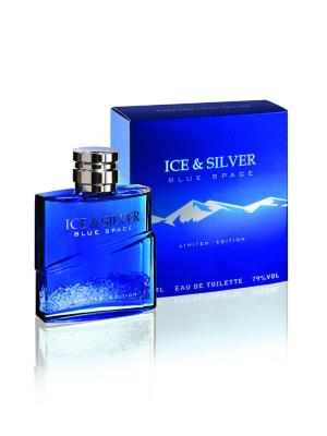 Т/в Ice&Silver Blue Space 85 мл муж Parfums Louis Armand. Цвет: голубой