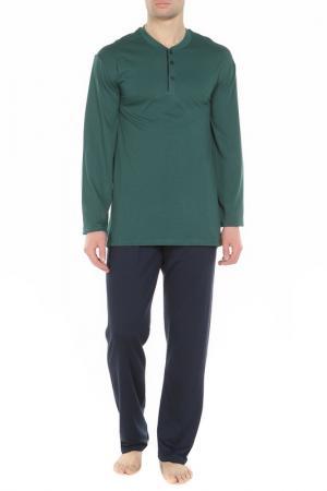 Пижама Cacharel. Цвет: зеленый, синий