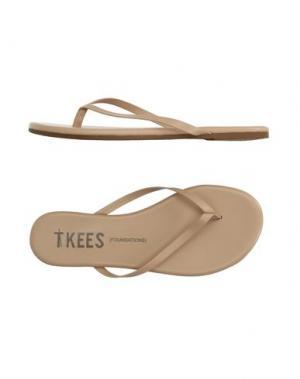 Вьетнамки TKEES. Цвет: бежевый