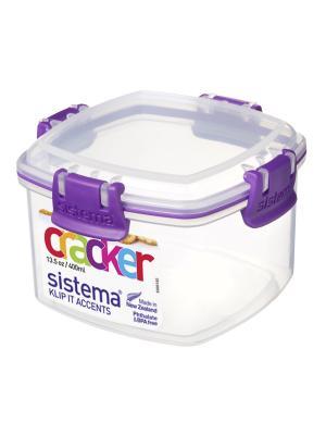 Контейнер для крекеров 400мл Sistema. Цвет: фиолетовый