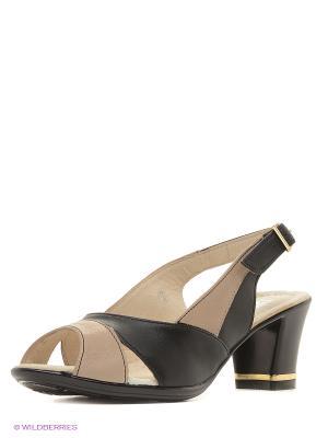 Босоножки на каблуке ЭГО. Цвет: черный