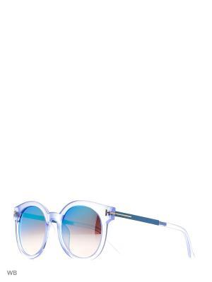 Солнцезащитные очки Vita pelle. Цвет: синий, голубой