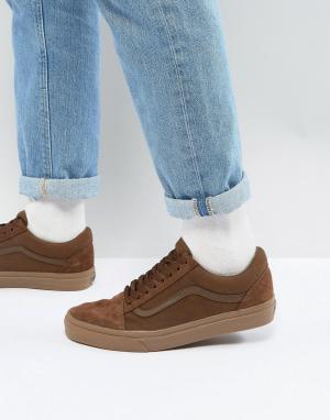 Vans Оранжевые кроссовки Old Skool VA38G1QW2. Цвет: коричневый