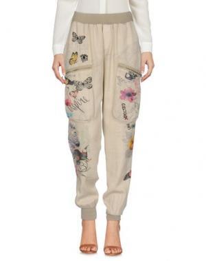 Повседневные брюки DESIGUAL. Цвет: бежевый