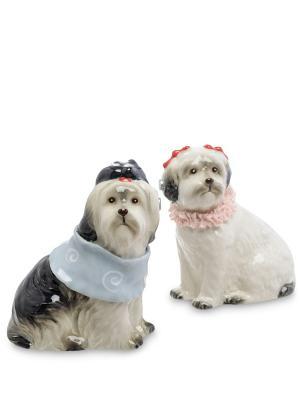 Набор соль-перец Пара собак (Pavone) Pavone. Цвет: белый, серый