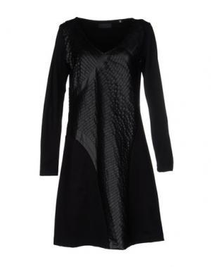 Короткое платье CRISTIANO BURANI. Цвет: черный