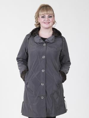 Пальто Нелли VIKO. Цвет: темно-серый