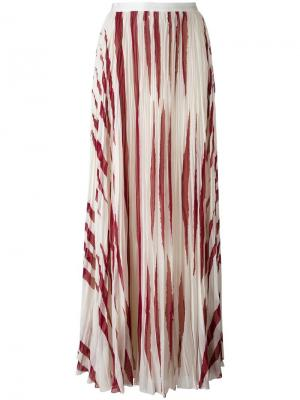 Zebra print pleated skirt Tory Burch. Цвет: телесный