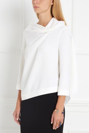 Шерстяная блузка Oscar Roland Mouret. Цвет: белый