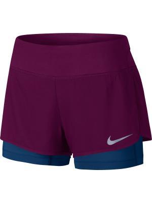 Шорты W NK FLX 2IN1 SHORT RIVAL Nike. Цвет: красный