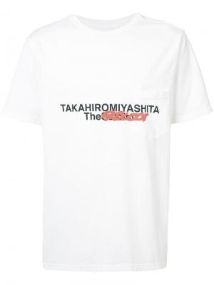 Футболка с принтотм спереди Takahiromiyashita The Soloist. Цвет: белый