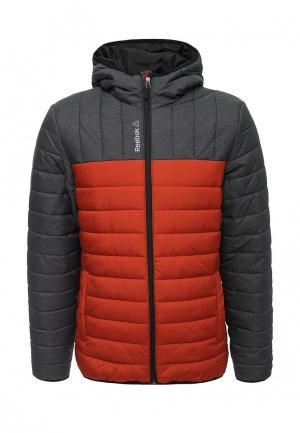 Куртка утепленная Reebok. Цвет: оранжевый
