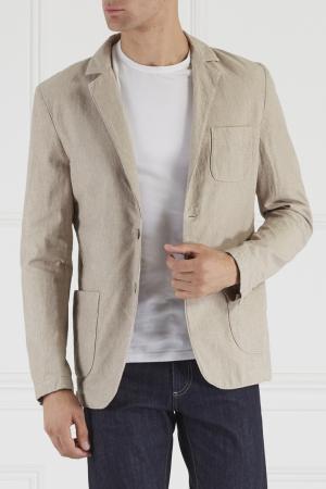 Комбинированный пиджак Novemb3R. Цвет: бежевый