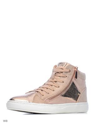 Ботинки Marco Tozzi. Цвет: розовый
