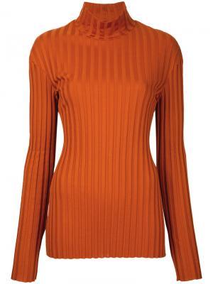 Блузка-водолазка Christopher Esber. Цвет: жёлтый и оранжевый