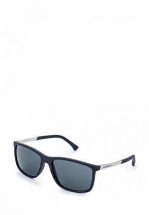 Очки солнцезащитные Emporio Armani. Цвет: синий