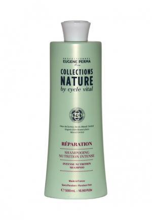 Шампунь интенсивно-питательный для повреждённых волос Eugene perma. Цвет: бирюзовый