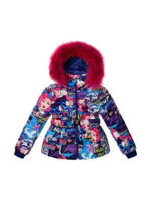 Куртка Stilnyashka. Цвет: синий, фиолетовый