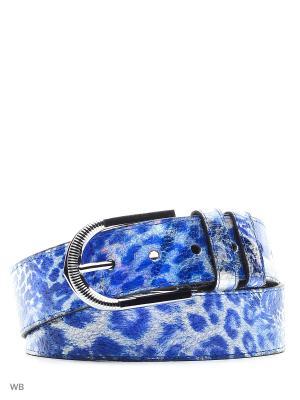 Ремень женский INDIVIDUUM. Цвет: синий, серебристый