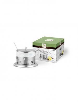 Сахарница TECO 022S-TC-2. Цвет: серебристый,прозрачный