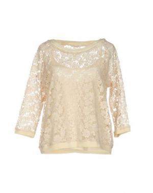 Блузка BELLA JONES. Цвет: бежевый