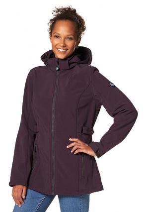 Куртка POLARINO. Цвет: цвет баклажана меланжевый