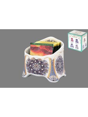 Подставка сервировочная для чайных пакетиков Калейдоскоп Elan Gallery. Цвет: серый, золотистый, белый