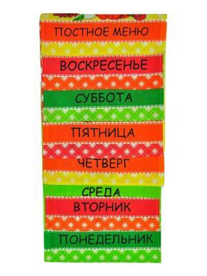Вафельное полотенце 8 шт Корона. Цвет: синий, зеленый, оливковый, желтый