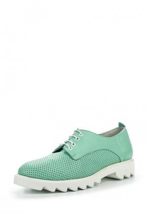 Ботинки D.Moro. Цвет: бирюзовый