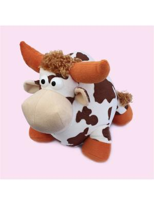 Мягкая игрушка Бычок Буян, Malvina. Цвет: белый, коричневый