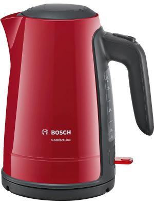 Чайник электрический BOSCH TWK6A014, 2400Вт, красный. Цвет: красный