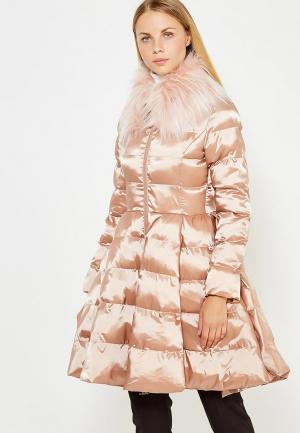 Куртка утепленная Elisabetta Franchi. Цвет: бежевый