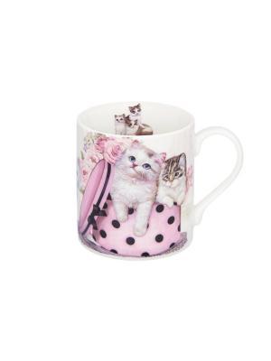 Кружка - подарок Котята Elan Gallery. Цвет: розовый, белый, коричневый
