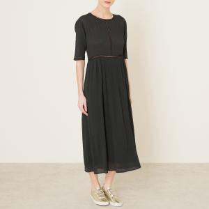 Платье-миди POMANDERE. Цвет: черный