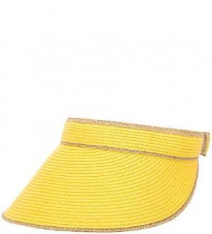Желтый козырек на липучке R.Mountain. Цвет: желтый