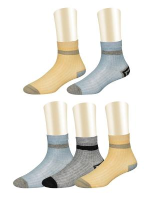 Носки, 5 пар Glamuriki. Цвет: серый, бежевый