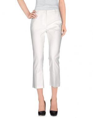 Повседневные брюки CENTOQUATTRO. Цвет: белый