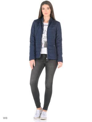 Куртка Vila. Цвет: темно-синий