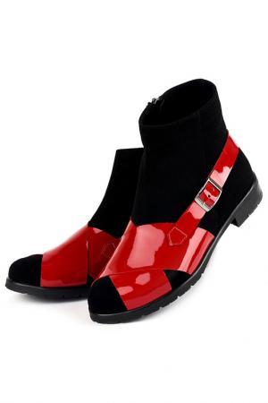 Ботинки Riccorona. Цвет: черно-красный