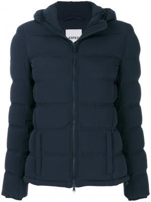 Дутая куртка с капюшоном Aspesi. Цвет: синий